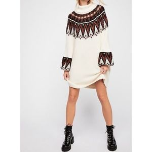 Free People Large Scotland Sweater Dress L